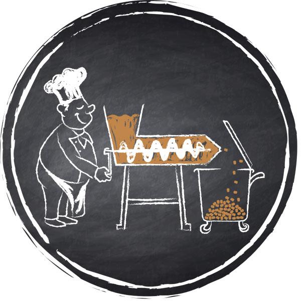 Herstellung Leonardo Trockenfutter